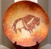 Southwest Ceramic platter [Wall art] handmade, hand painted- Odyssey Creations