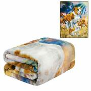 Signature Collection Pit Bull Terrier Dog Puppies Soft Plush Blanket Queen Size