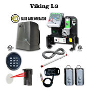 Viking L3 Slide Gate Openerphotocell Transmitter Receiver Keypad And Exit Wand.
