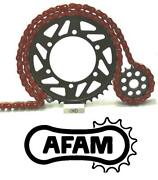 Afam Upgrade Red Chain And Sprocket Kit Honda Cr125r H-t 87-96