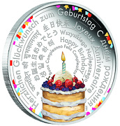 2018 Perth Mint Birthday Wishes 2 Oz 2 Two Dollar Silver Proof Coin Ideal Gift