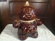 Hull Gingerbread Man Brown Drip Glaze Cookie Jar  XLNT Cond  USA Made