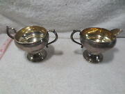 Antique Fb Rogers Silver Co Sterling Silver Creamer And Sugar Bowl 1883 Weighted