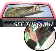 P413 Bass Fishing Rear Window Tint Graphic Decal Wrap Back Pickup Graphics