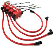 4 Universal Ign1a Coil Packs / Mounting Bracket / Wire Harness And 10mm Coil Wires