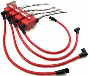 4 Smart Ignition Coils / Mounting Bracket / Wire Loom Pigtails And 10mm Coil Wires