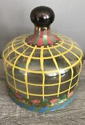 "Mackenzie Childs 7"" Glass Cake Dome"