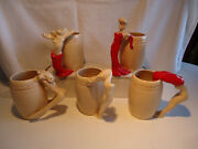 Dorthy Kindell California pottery Nude Risque 5pc lot mug  vintage signed