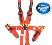 Nrg 6 Point 3 Red Seat Belt Harness Fia / Hans Approved Sbh-hrs6pcrd