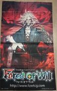 Force Of Will Fow Tcg G1 Dracula The Demonic One Original Wall Banner New
