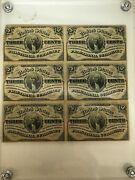 3 Cent Fractional Currency Sheet Of 6 Notes