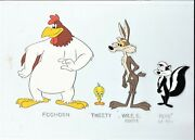Looney Tunes Colorists Model Cel Foghorn Tweety Wile E. Coyote Pepe Le Pew