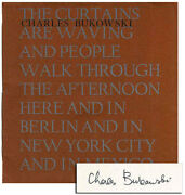 Charles Bukowski-the Curtains Are Waving 1967-1st Ed-1/122 Signed-a Fine Copy