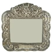 Antique Spanish Colonial Sterling Silver Mirror