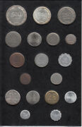 1963 Israel Set Of 16 Pruta And Agorot Coins Type I Black Plastic2 Silver Coins