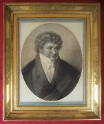 Drawing Man Portrait French Empire Restoration Old Master Painting France Art