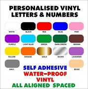 Custom Self Adhesive Vinyl Writing Letters And Numbers Water-proof Sign Project