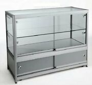 High Class Aluminum Museum Shop Glass Counter Display Cabinet Home Storage 1554a