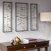 Luxury Set Of 3 Clement Gold Metal Rods And Discs Wall Decor