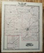 Antique Map - Winnebago County Illinois - Warner And Beers/union Atlas Co. 1876