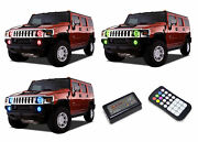 Colorfuse Rf Rgb Multi-color Led Halo Ring Headlight Fog Kit For Hummer H3 06-10