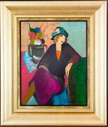 Tarkay Figure And Illumination Color Serigraph Canvas Hand Signed Ink Le 250