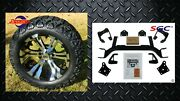 Ezgo Txt Electric Golf Cart 6 Lift Kit + 14 Vampire Wheels And 23 At Tires