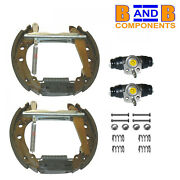 Vw Golf Mk1 Mk2 Scriocco Brake Shoes Wheel Cylinders And Fitting Kit A500