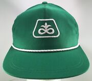 Vintage Pioneer Seed Embroidered Rope Front Snapback Hat K Products Made In Usa