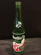 Vintage Rare Mountain Dew Glass Bottle Filled By Jed And Myrtle 10oz