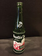 Vintage Rare Mountain Dew Glass Bottle Filled By Mary And Kathy 10oz