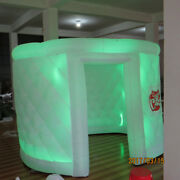 Inflatable Oval Photo Booth Air Tent Portable Photobooth W/led Lights And Blower