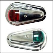 Stainless Side-mounted Bow Lights For Vintage Boats