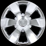 14 Set Of 4 Chrome Wheel Covers Snap On Full Hub Caps Fit R14 Tire And Steel Rim