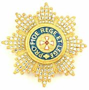 Order Of The White Eagle Breast Star With Rhinestones
