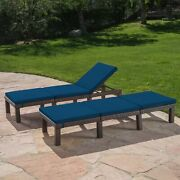 Joyce Outdoor Wicker Chaise Lounge With Water Resistant Cushion