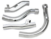 Pan Chrome Exhaust Pipe Set For 1948 - 1957 Harley 61 And 74 Panhead Models