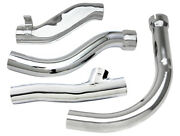 Pan Chrome Exhaust Pipe Kit For 1948 - 1957 Harley 61 And 74 Panhead Models