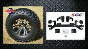 Ezgo Medalist/txt/pds Gas Golf Cart 4 Lift Kit + 10 Wheels And 22 At Tires
