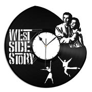 West Side Story Vinyl Wall Art Clock Unique Gift Personalized Home Room Decor