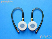 2 Gray Earhooks And Eartips For Motorola Hx600 Boom, H17 And Elite Flip Hz720