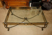 Glass Top Cast Iron Coffee Table Excellent Condition Pickup Only