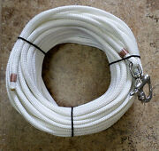 3/8 X 115 Ft. Natural White Dac/polyester Halyard Spliced In S/s Snap Shackle