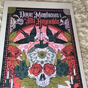 Dave Matthews Poster 2018 Riviera Maya Mexico N3 Signed And Numbered /20 Foil