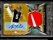 2014 Topps Platinum Gold Refractor A.j. Mccarron 2 Color Nike Logo Auto Rc To 5