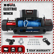 X-bull 13000lbs Electric Winch Synthetic Towing Trailer Remote Control Off-road