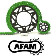 Afam Green Chain And Sprocket Kit Ducati 1199 Panigale R 520 With Pcd 13-15