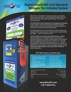Nfc-2500 Digital Coin/credit Card Operated Nitrogen Tire Inflation System