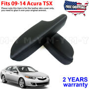Fits 2009-2014 Acura Tsx Leather Front Door Panels Armrest Cover 2pcs Black