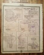 Nice Antique Map - Plan Of Iowa Falls/state Centre Iowa - Andreas Atlas Co. 1875